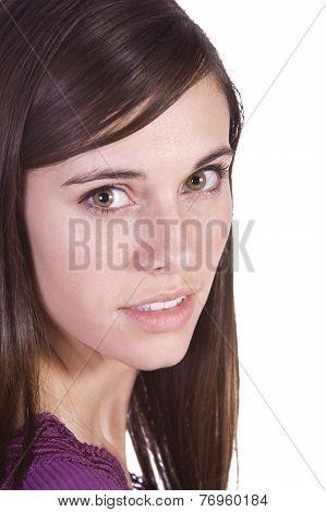 Close Up Of A Beautiful Girl