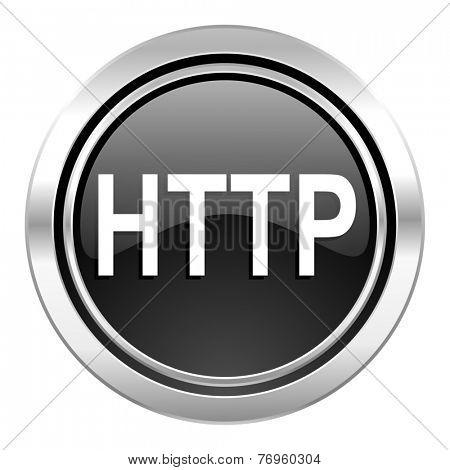 http icon, black chrome button