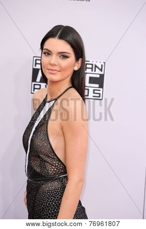 LOS ANGELES - NOV 23:  Kendell Jenner at the 2014 American Music Awards - Arrivals at the Nokia Theater on November 23, 2014 in Los Angeles, CA