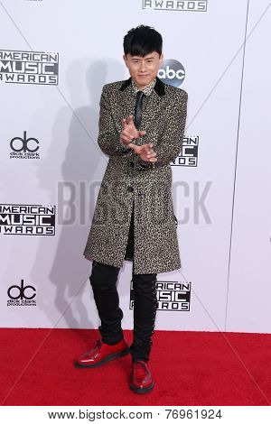 LOS ANGELES - NOV 23:  Jason Zhang Jie at the 2014 American Music Awards - Arrivals at the Nokia Theater on November 23, 2014 in Los Angeles, CA