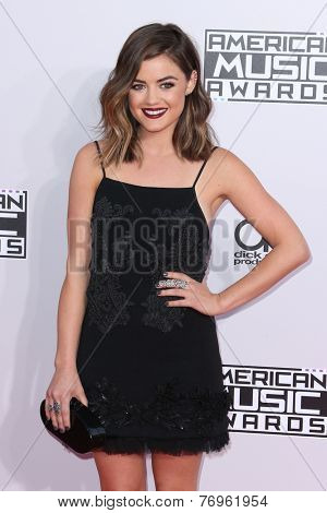 LOS ANGELES - NOV 23:  Lucy Hale at the 2014 American Music Awards - Arrivals at the Nokia Theater on November 23, 2014 in Los Angeles, CA
