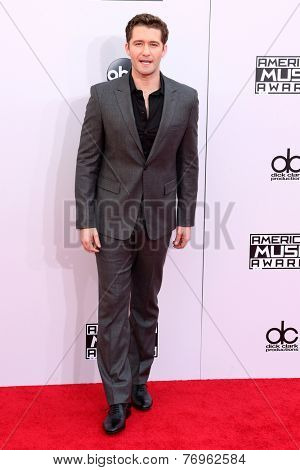 LOS ANGELES - NOV 23:  Matthew Morrison at the 2014 American Music Awards - Arrivals at the Nokia Theater on November 23, 2014 in Los Angeles, CA