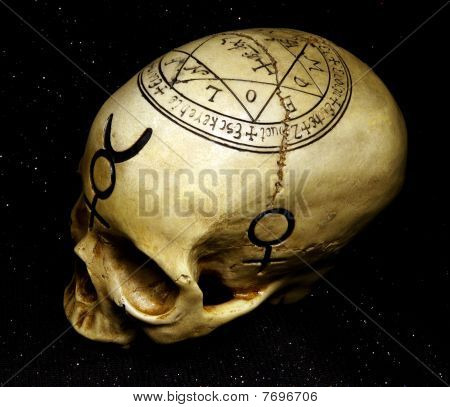 Skull With Magical Symbols