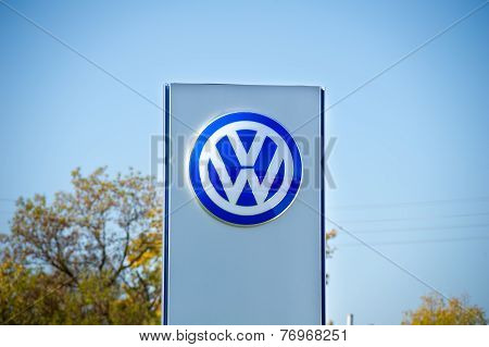 VW dealership logo