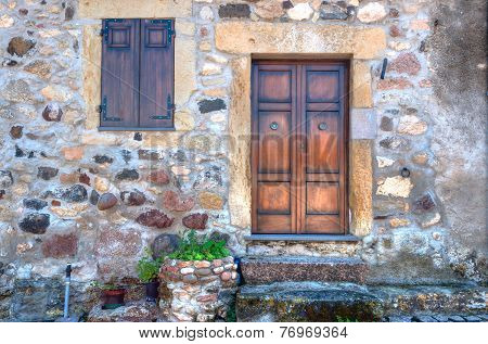 Small Door In An Old Alley