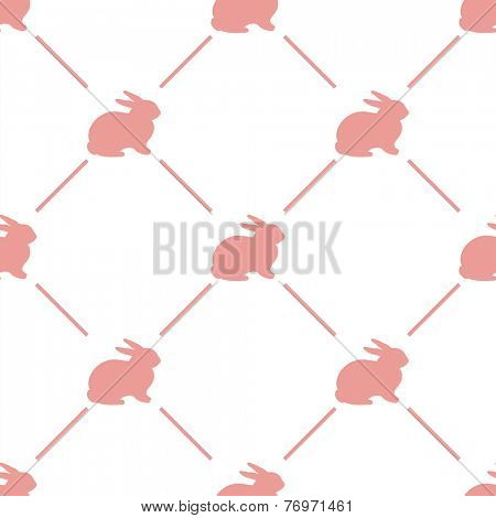 Easter rabbit seamless pattern - vector illustration.