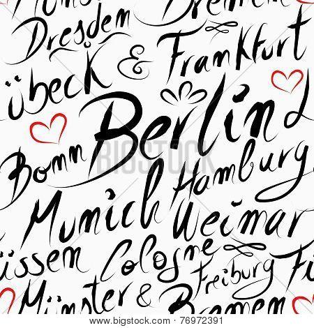 Travel Germany Destination City Seamless Pattern