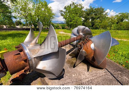Old Hydroelectric Turbines