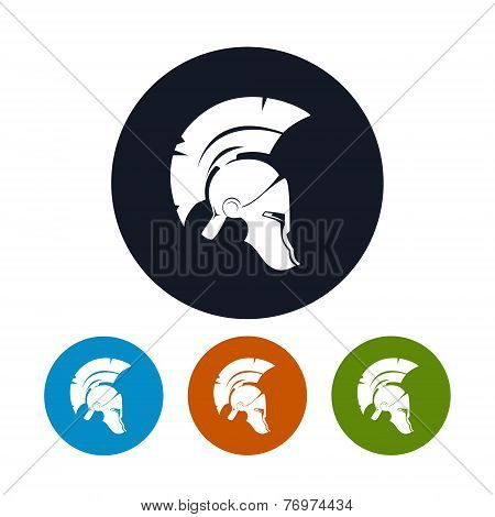 Antique Helmet Icon, Vector Illustration