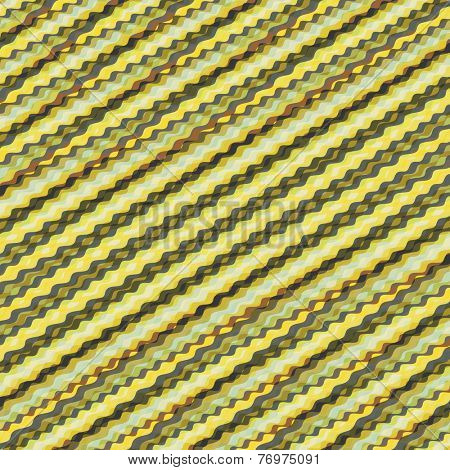 Wavy volume background. Pattern with optical illusion. 3d vector illustration.