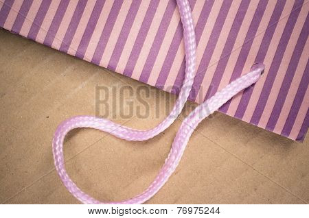 Colored Stripes Paper Bag