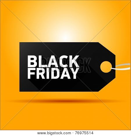 Black Friday sales tag. vector illustration