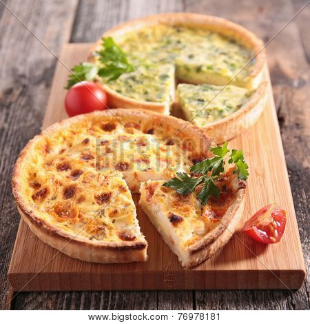 leek quiche and quiche lorraine