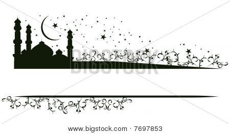 Vector mosque and star