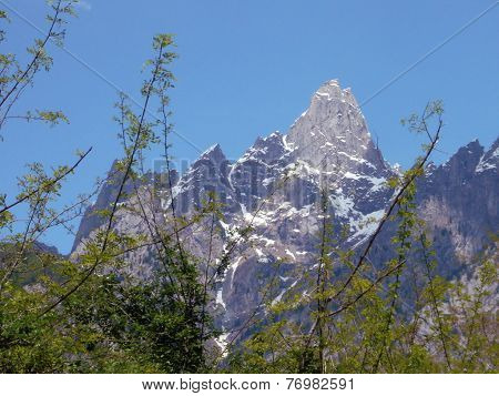 Alpine Peak On Spring. Cima Di Cavalcorto, Val Masino, Italy