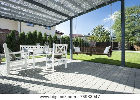 Beautiful Patio With Swing