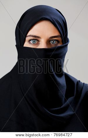 Middle Eastern Woman Wearing The Veil