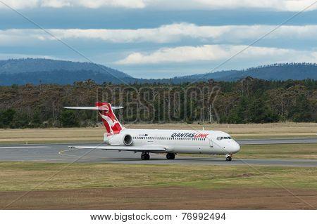 QantasLink Passenger Airliner Taxiing