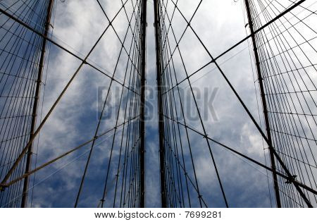 Cable Patterns On Brooklyn Bridge