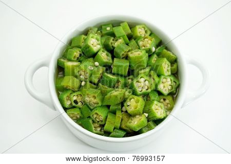 Fried Green Okra With Butter