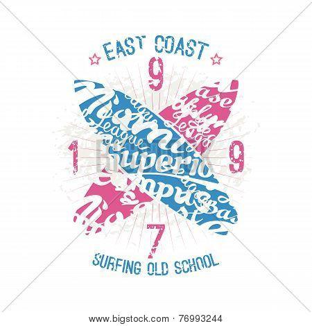 East Coast Surfing Emblem
