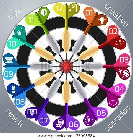 Business target marketing dart idea creative