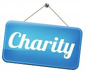 stock photo of word charity  - charity fund raising raise money to help donate give a generous donation or help with the fundraise gifts  - JPG