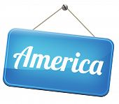 Постер, плакат: America north america or south and central america travel vacation and tourism road trip trough cont
