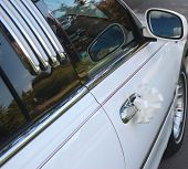 stock photo of offside  - Close up of offside door of Limo - JPG