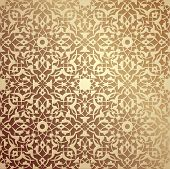 image of symmetry  - Islamic floral pattern - JPG