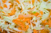 stock photo of grated radish  - Salad from a grated radish and carrots - JPG