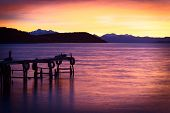 picture of andes  - Sunrise over Lake Titicaca in the bay of Cha - JPG