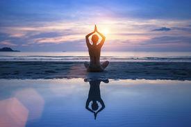 picture of sea life  - Yoga on the sea beach - JPG