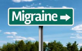 picture of lobbyist  - Migraine creative green sign - JPG