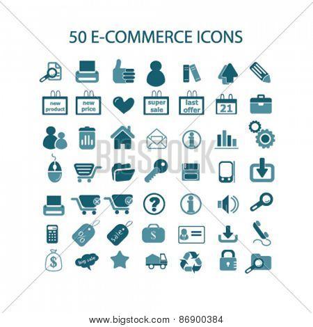 e-commerce, retail, commerce, shop, store icons, signs, illustrations design concept set for appliciation, website, vector on white background