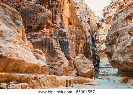 in Nabatean Petra Jordan middle east