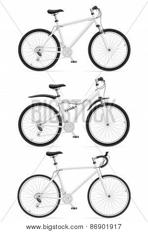 Set Icons Sports Bikes Vector Illustration