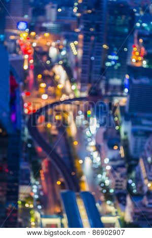 Out of focus big city lights, Blurred Photo bokeh