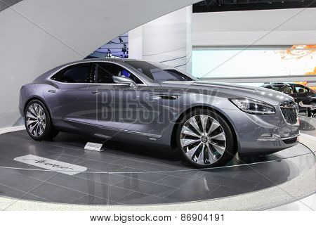 NEW YORK - APRIL 1: Buick exhibit at the 2015 New York International Auto Show during Press day,  public show is running from April 3-12, 2015 in New York, NY.