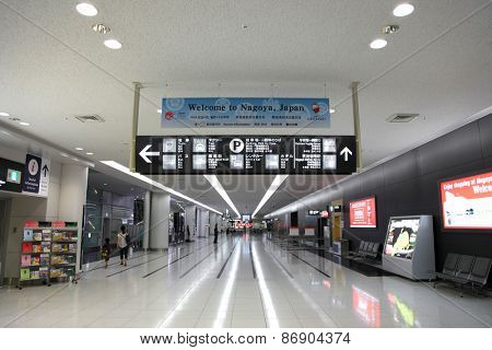 NAGOYA,JAPAN -SEPTEMBER 11: Nagoya International airport on September 11,2014, is awarded 5th Best Airport Worldwide of the Airport Service in the year 2011.