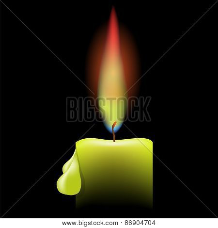 Burning Single Candle