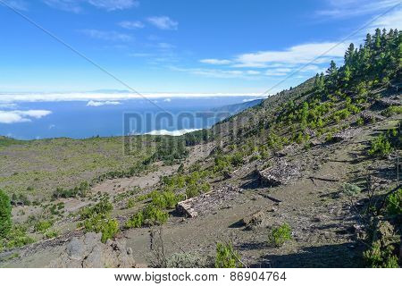 Mountain landscape in the west of El Hierro