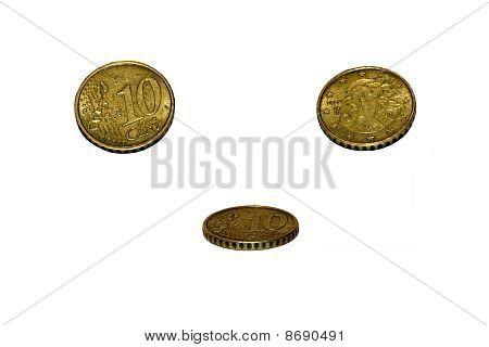 Coin. 10 Euro Cent
