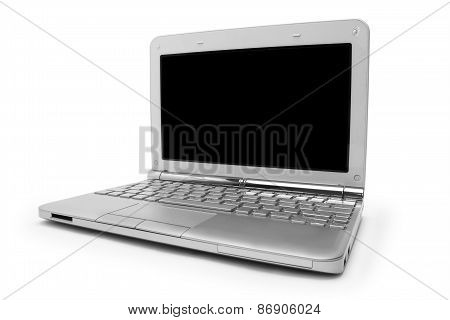 Laptop With Black Monitor
