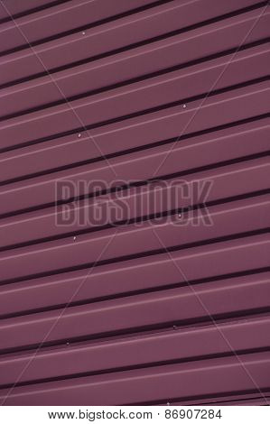 Close up of Red Corrugated Iron Full Frame