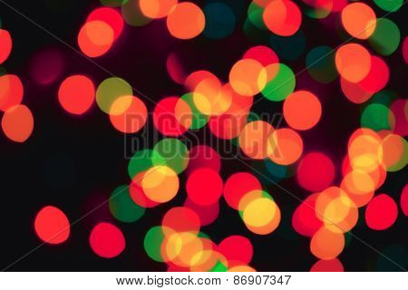 Background With Colorful Blurred Lights