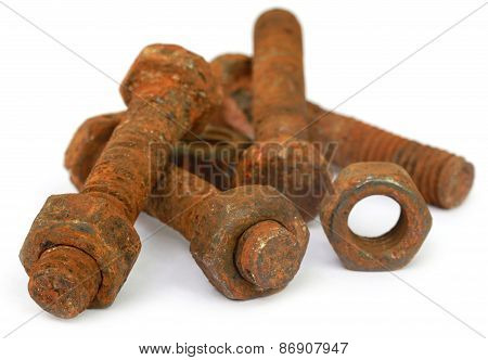 Rusty Bolt And Nut