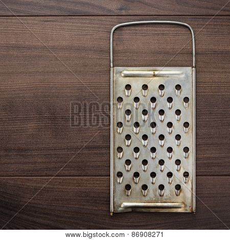 natural aged old rusted grater