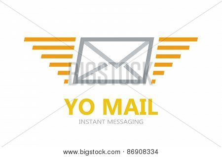 Mail vector logo or symbol icon