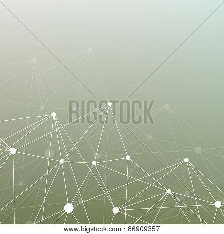 Molecule and communication  Geometric blurred background for your design and your text